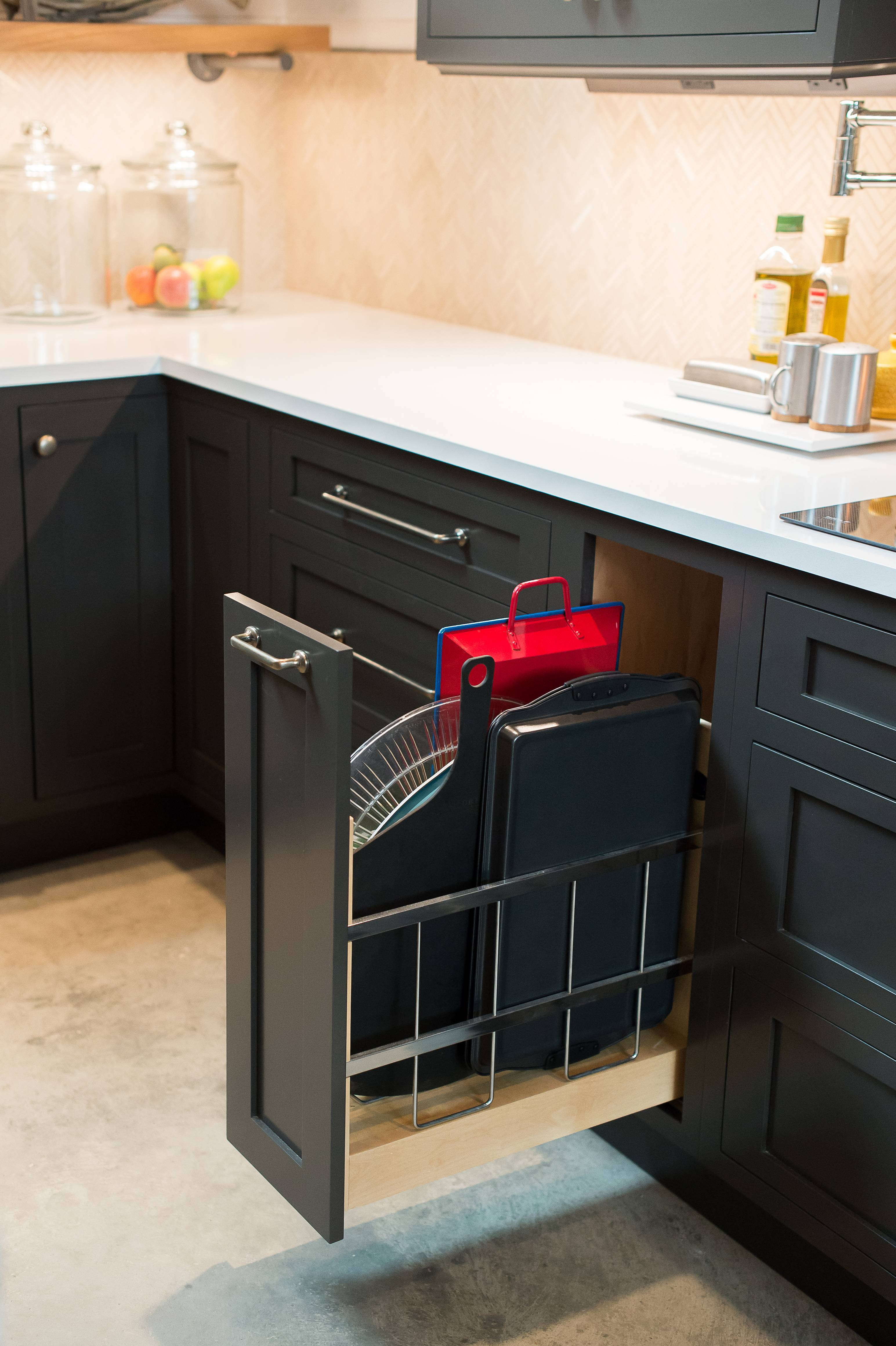 Custom Pull Out Tray Storage