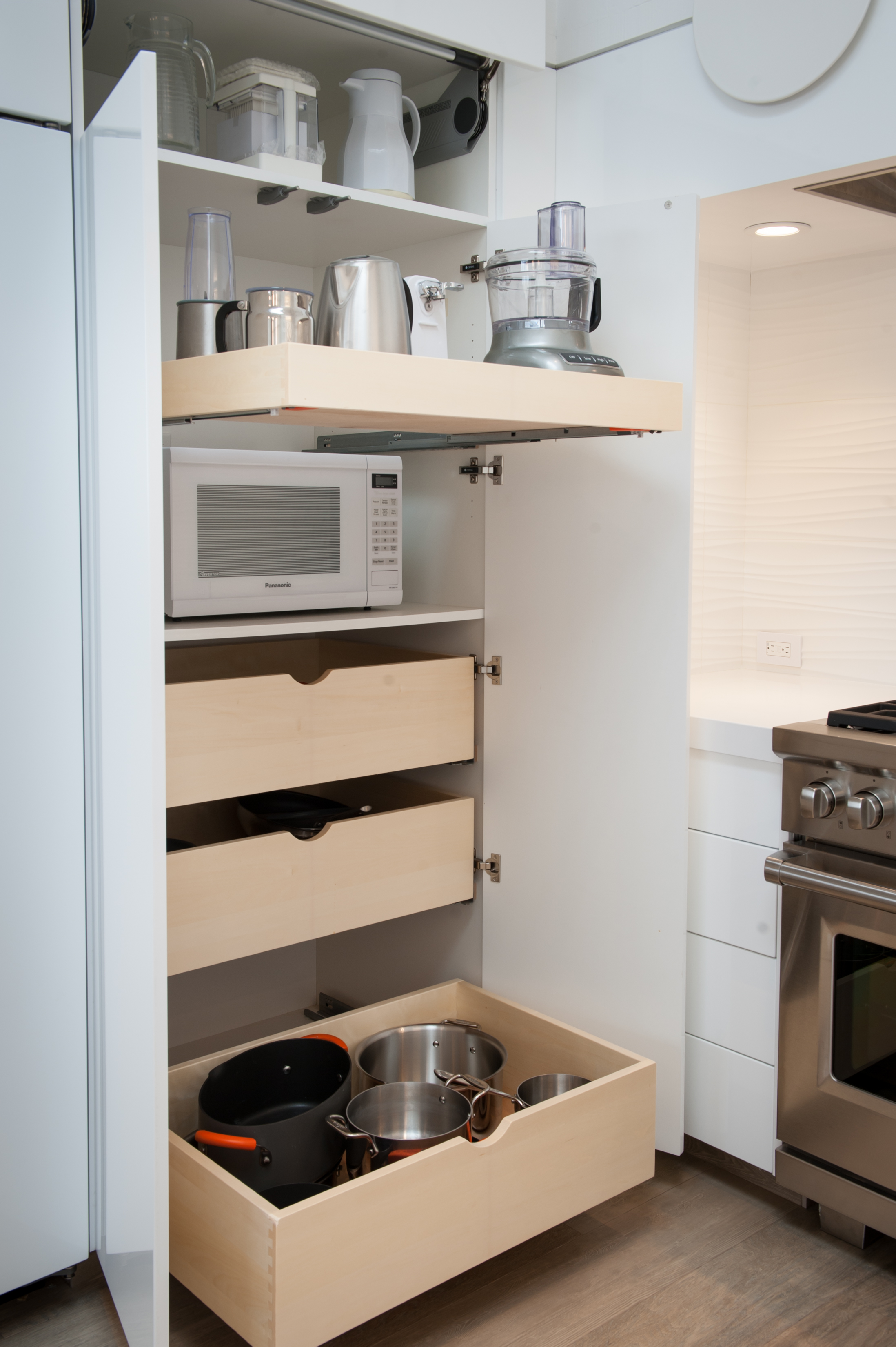 Roll Out Shelves Custom Pantry Configuration Crystal