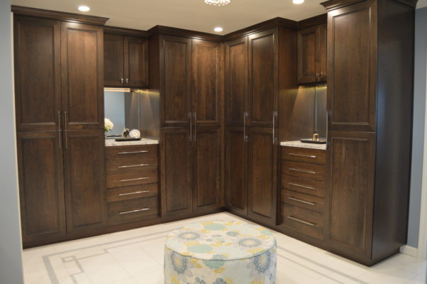 Dark Brown Bathroom Cabinets in Cherry