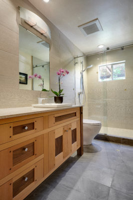 Natural Fir and Walnut Bathroom Vanity