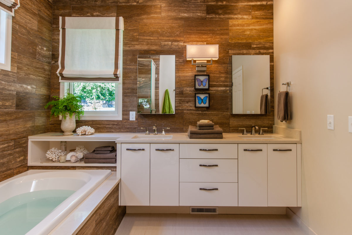 White Contemporary Bathroom Vanity