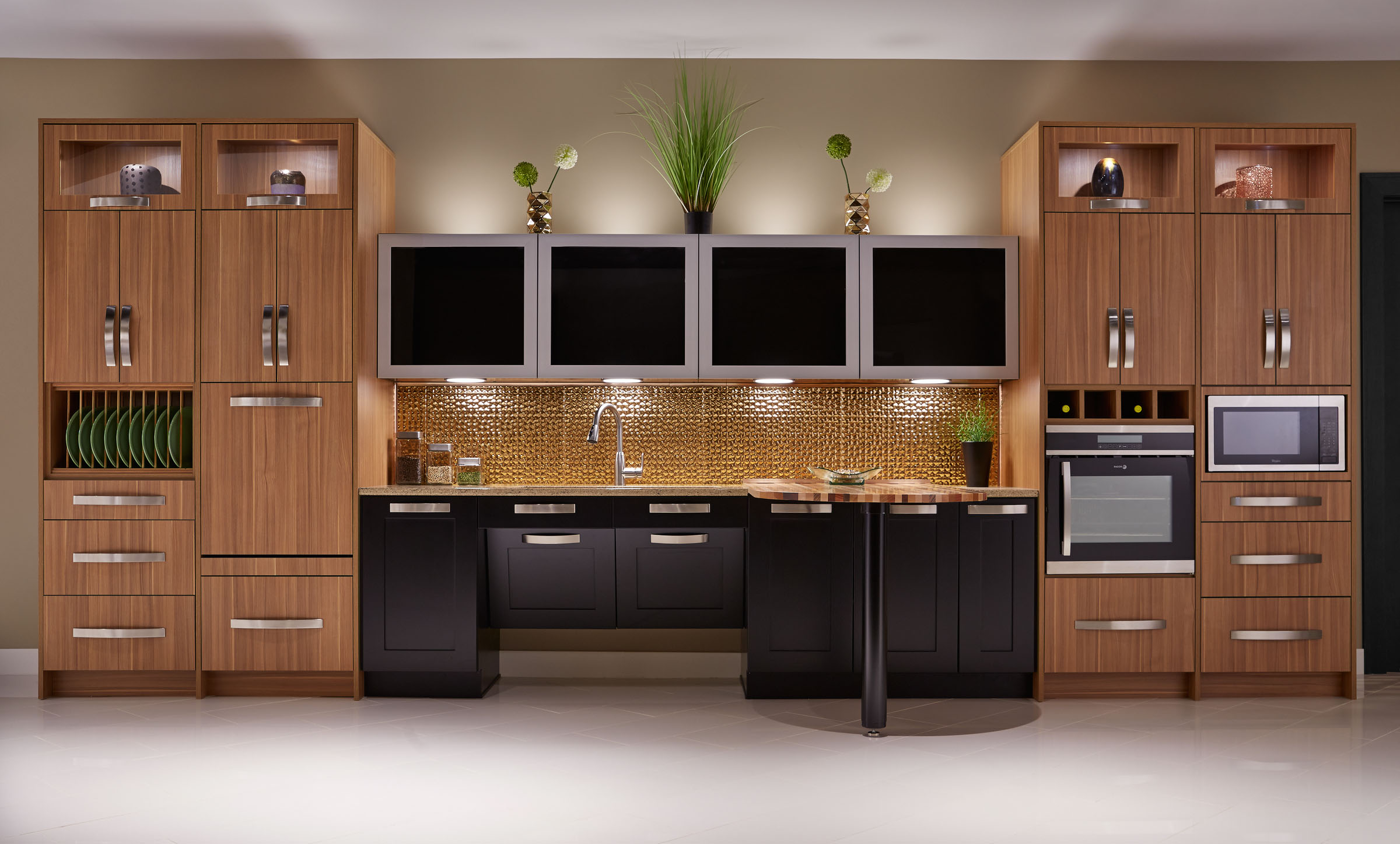 Inspired Ada Kitchen Crystal Cabinets