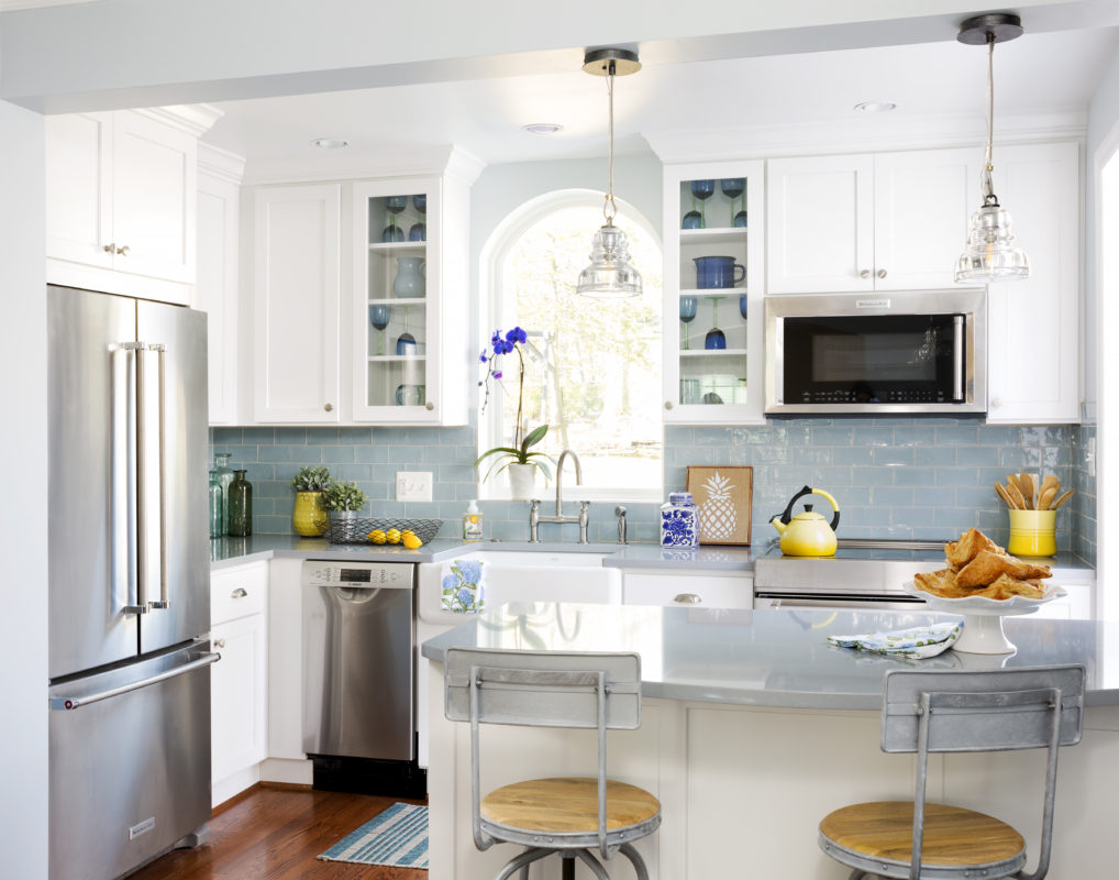 Tiny Simply White Kitchen