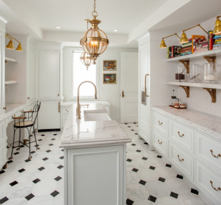Cotton White Bake Room Cabinets