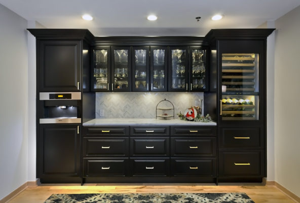 Black Painted Bar Cabinetry