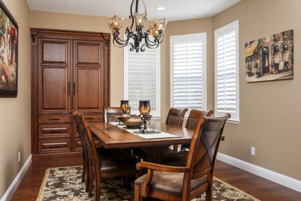 Medium Brown Dining Room Cabinets