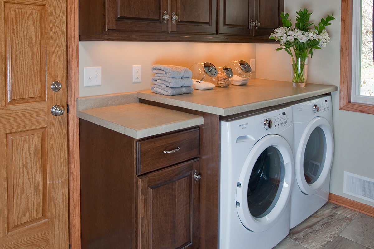 Mudroom Cabinets with a Chocolate Brown Finish