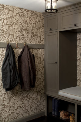 Custom Mudroom Cabinets with Bench