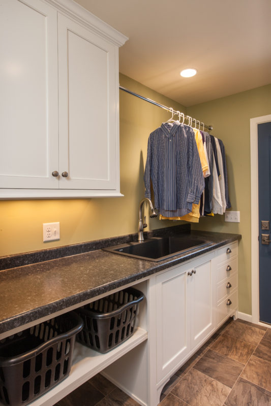 Custom Frosty White Mudroom Cabinets