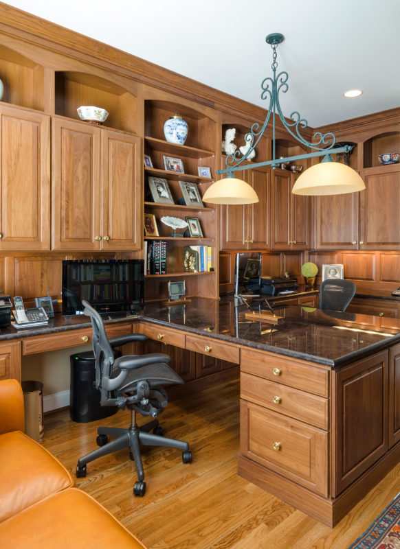 Custom Walnut Office Cabinets