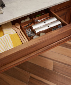 Custom Walnut Drawer Organizer
