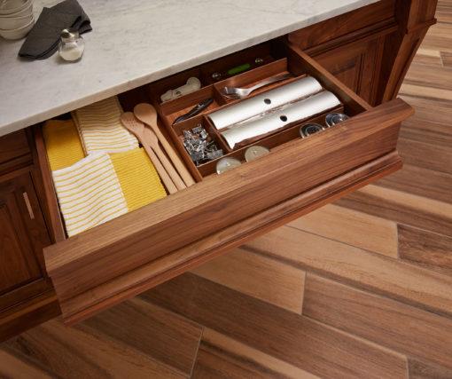 Custom Walnut Drawer Organizer