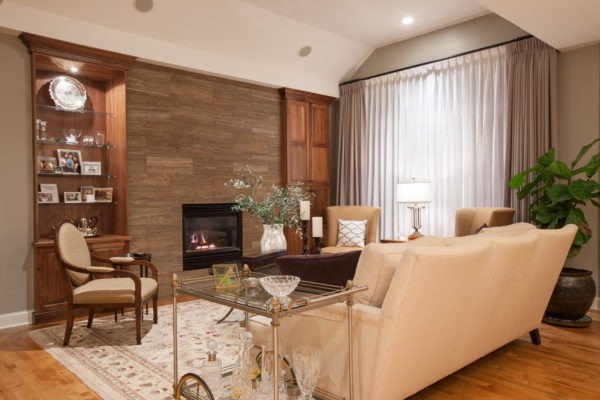 Transitional Wall Inset Custom Cabinets