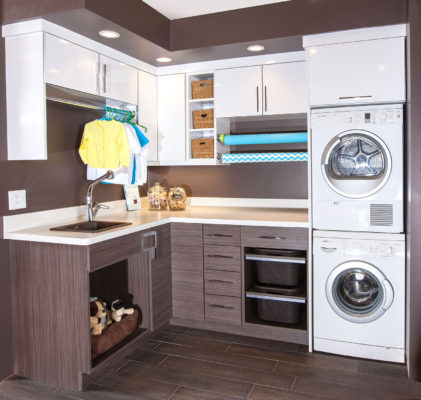 Two-Toned Laundry Room
