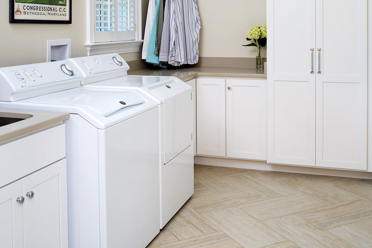 Simply White Laundry Room
