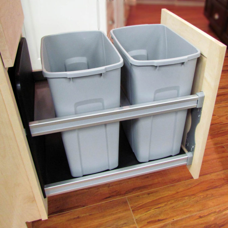 Waste Baskets/Recycle Bins - Crystal Cabinets