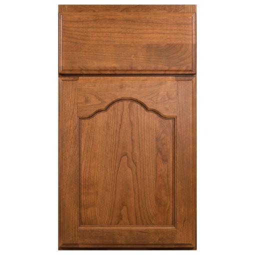 franch villa arched wood door