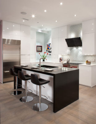 Contemporary Loft Style White Kitchen