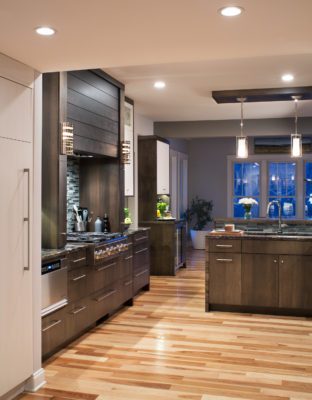 Contemporary Rustic Cabinets with a Dark Finish