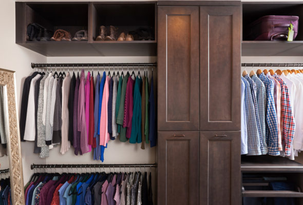 Maple Closet Cabinets with a Slate Finish