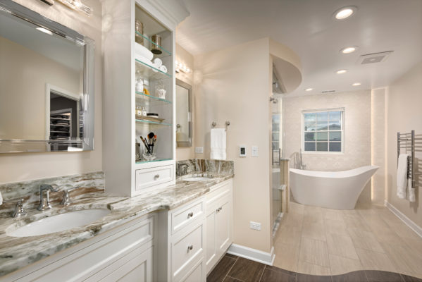 Matte White Finished Bathroom Cabinets