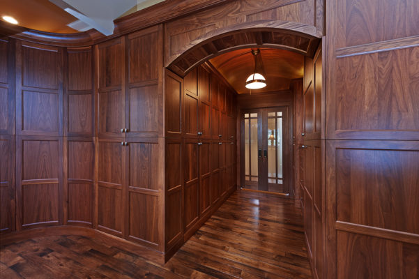 Mid Tone Finished Walnut Hallway