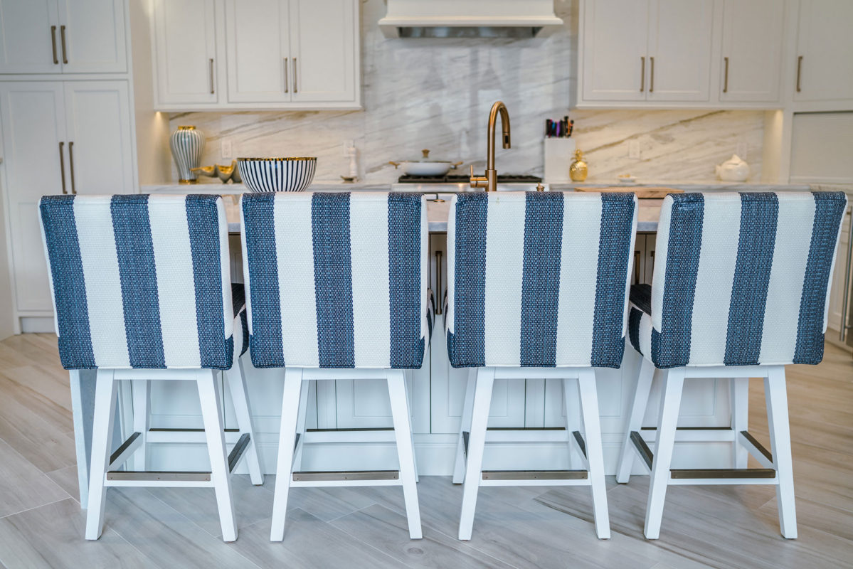 Painted White Transitional Kitchen - Crystal Cabinets