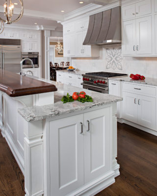 Transitional Painted White Inset Kitchen