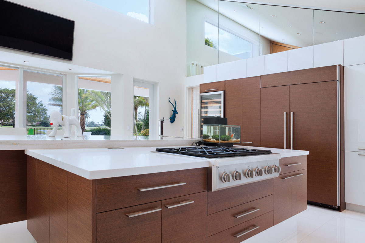 Remarkable Two Toned Modern Kitchen Cabinets Crystal Cabinets Beutiful Home Inspiration Truamahrainfo