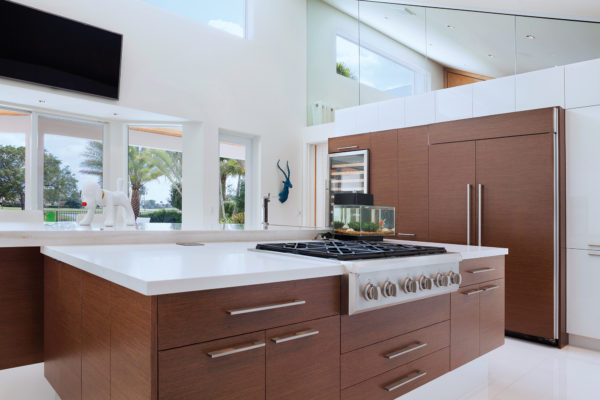Two-Toned Modern Kitchen Cabinets