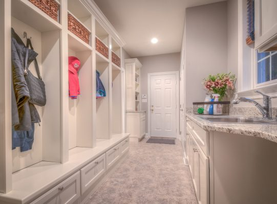 Painted White Mudroom