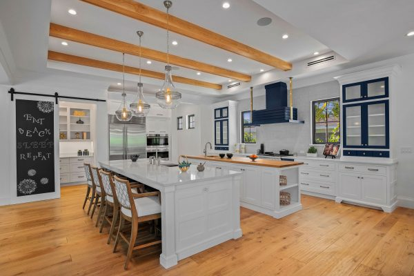 Navy Blue & White Transitional Kitchen