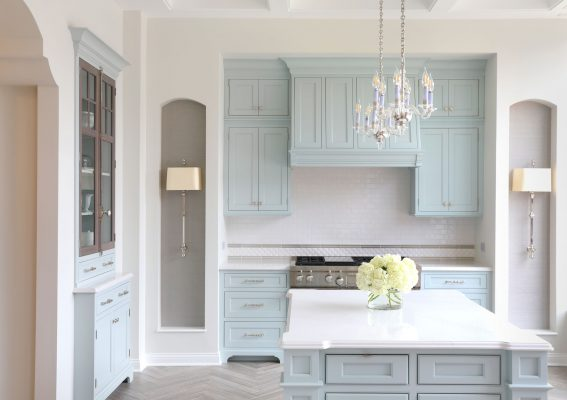 Painted Light Blue Luxury Kitchen