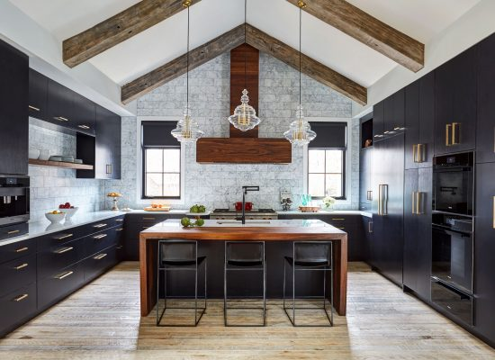 Ebony and Walnut Contemporary Kitchen